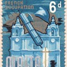 Sellos: 1965 - MALTA - OCUPACION FRANCESA - YVERT 311. Lote 132194834