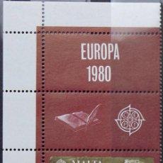 Sellos: MALTA 1980 • YT 604 ** NUEVO ** • EUROPA CON LAS 2 VIÑETAS. Lote 132876506