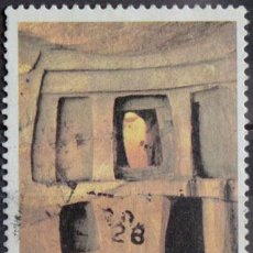 Sellos: MALTA 1980 • YT 598 USADO • MONUMENTOS UNESCO. Lote 132912330
