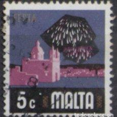 Sellos: MALTA 1973 • YT 468 USADO • ASPECTOS DE MALTA: FIESTAS. Lote 132913306