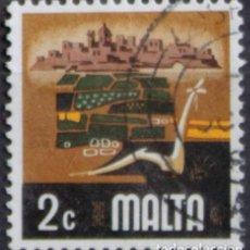 Sellos: MALTA 1973 • YT 465 USADO • ASPECTOS DE MALTA: AGRICULTURA. Lote 132913562