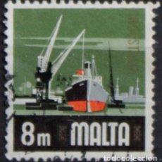 Sellos: MALTA 1973 • YT 462 USADO • ASPECTOS DE MALTA: INDUSTRIA. Lote 132914194