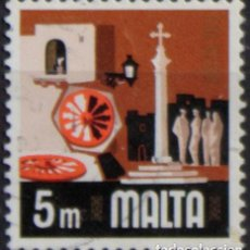 Sellos: MALTA 1973 • YT 461 USADO • ASPECTOS DE MALTA: FOLCLORE. Lote 132914382