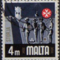 Sellos: MALTA 1973 • YT 460 USADO • ASPECTOS DE MALTA: HISTORIA. Lote 132914466