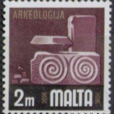 Sellos: MALTA 1973 • YT 459 USADO • ASPECTOS DE MALTA: ARQUEOLOGIA. Lote 132914530