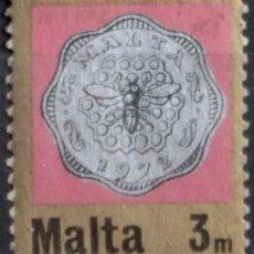 Sellos: MALTA 1972 • YT 422 USADO • INTRODUCCIÓN SISTEMA DECIMAL. Lote 132976190
