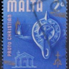 Sellos: MALTA 1965 • YT 306 USADO • HISTORIA. Lote 132976898