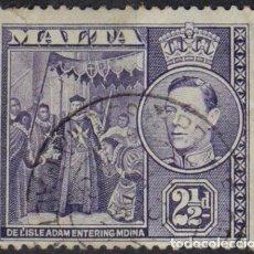 Sellos: MALTA 1943 • YT 197 USADO • JORGE VI. Lote 132978050