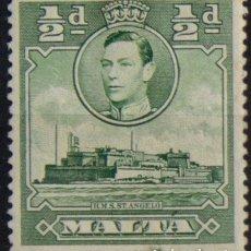 Sellos: MALTA 1938 • YT 179 USADO • JORGE VI. Lote 132978182