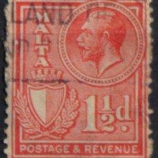 Sellos: MALTA 1930 • YT 157 USADO • JORGE V. Lote 132978366