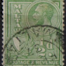 Sellos: MALTA 1930 • YT 155 USADO • JORGE V. Lote 132978442