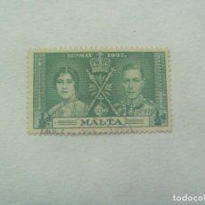 Sellos: SELLO DE MALTA DE CUANDO PERTENECIA AL IMPERIO BRITANICO, REY JORGE Y LA REINA . 1937. Lote 137452282