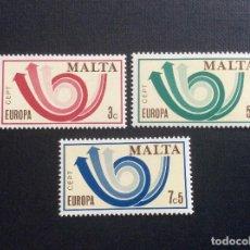Sellos: MALTA Nº YVERT 474/6*** AÑO 1973. EUROPA. Lote 138077322