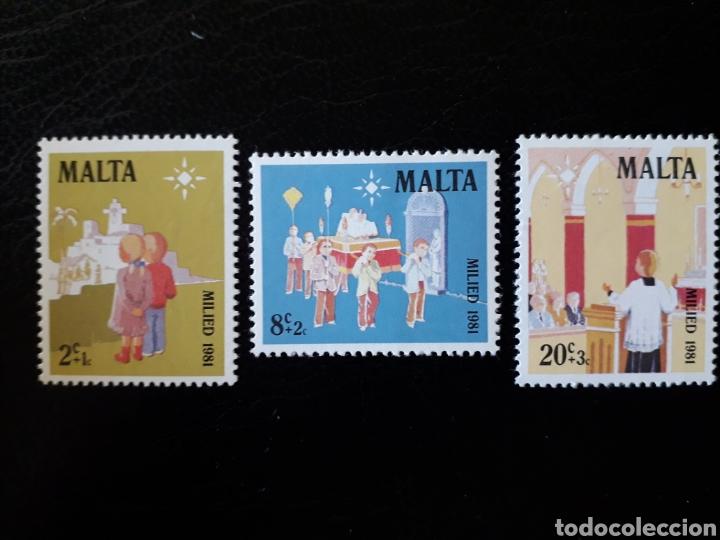 MALTA. YVERT 640/2. SERIE COMPLETA NUEVA SIN CHARNELA. NAVIDAD (Sellos - Extranjero - Europa - Malta)