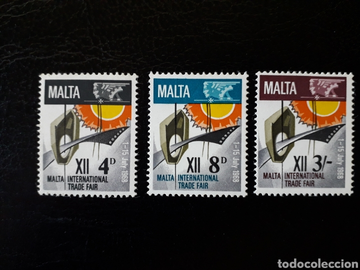 MALTA. YVERT 375/7. SERIE COMPLETA NUEVA CON CHARNELA. FERIA COMERCIAL INTERNACIONAL (Sellos - Extranjero - Europa - Malta)