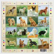 Sellos: MALTA 2018 - DOGS - MINIATURE SHEET MNH. Lote 147354874
