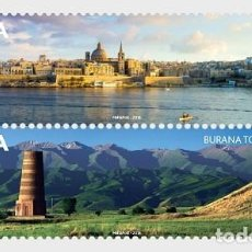 Sellos: MALTA - KYRGYZSTAN JOINT STAMP ISSUE - SET MNH. Lote 147356198