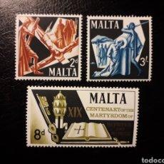 Sellos: MALTA. YVERT 355/7 SERIE COMPLETA NUEVA SIN CHARNELA. MARTIRIO DE SAN PEDRO Y SAN PABLO. Lote 148368390