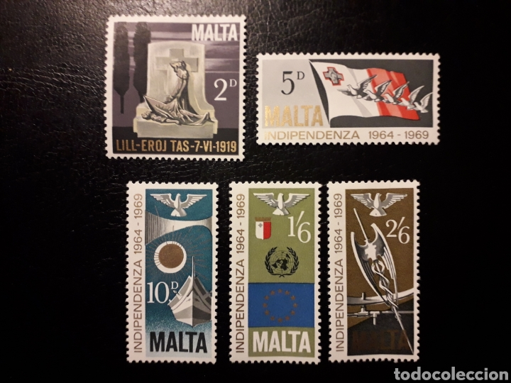 MALTA. YVERT 395/7 SERIE COMPLETA NUEVA SIN CHARNELA. INDEPENDENCIA (Sellos - Extranjero - Europa - Malta)