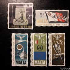 Sellos: MALTA. YVERT 395/7 SERIE COMPLETA NUEVA SIN CHARNELA. INDEPENDENCIA. Lote 148368928