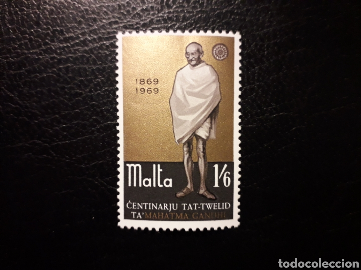 MALTA. YVERT 388 SERIE COMPLETA NUEVA SIN CHARNELA. MAHATMA GANDHI (Sellos - Extranjero - Europa - Malta)