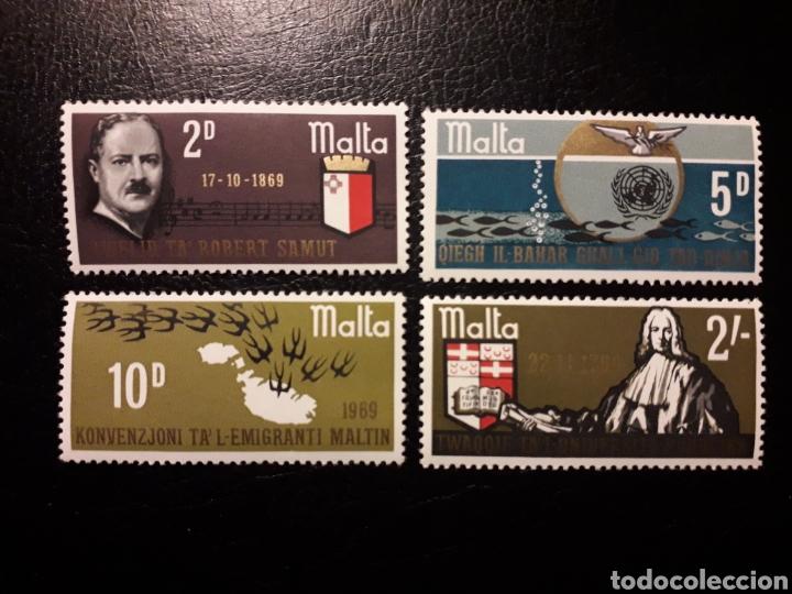 MALTA. YVERT 391/4 SERIE COMPLETA NUEVA SIN CHARNELA. CONMEMORACIONES (Sellos - Extranjero - Europa - Malta)