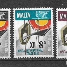 Sellos: MALTA 1968 ** NUEVO FERIA COMERCIAL - 4/35. Lote 160434494