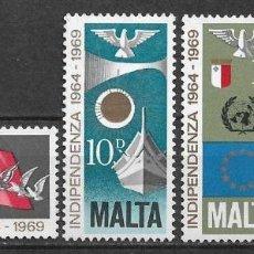Sellos: MALTA 1969 ** NUEVO TURISMO - 4/36. Lote 160435426