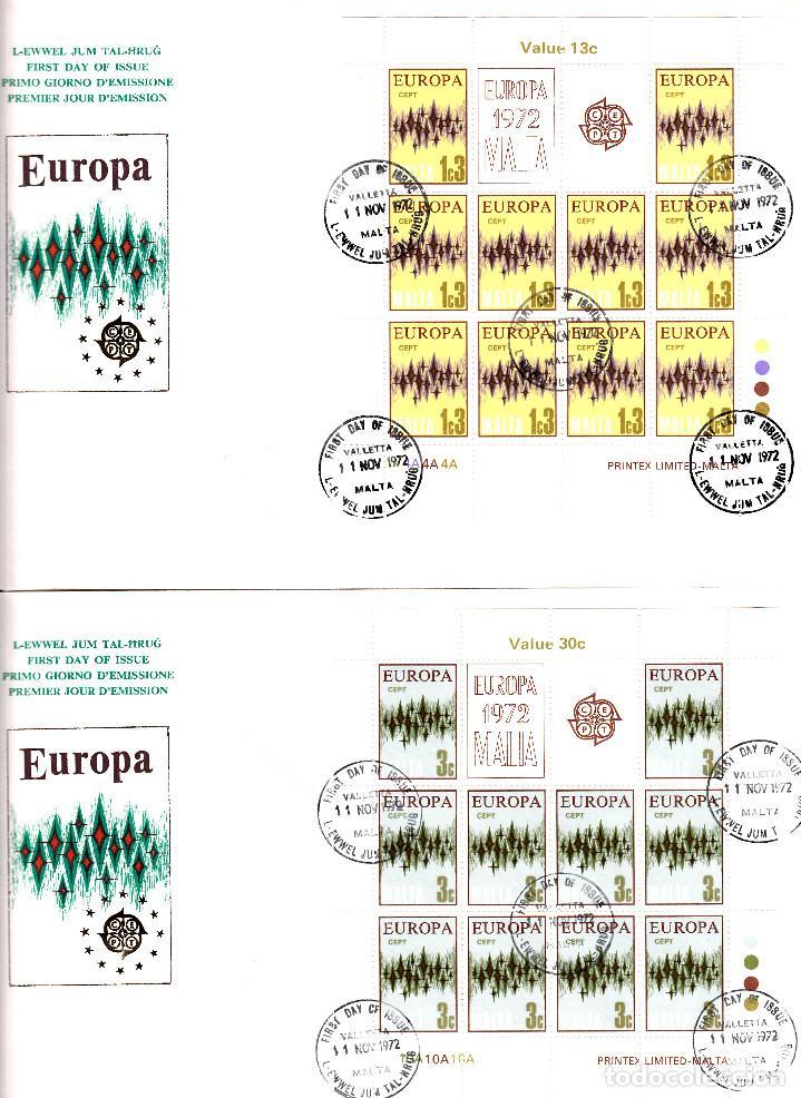 Sellos: 4 SPD - FDC MALTA CEPT 1972 - SOLICITE SUS FALTAS DE SELLOS Y SPD TEMATICA EUROPA- VER FOTOS ADIC. - Foto 2 - 161410702