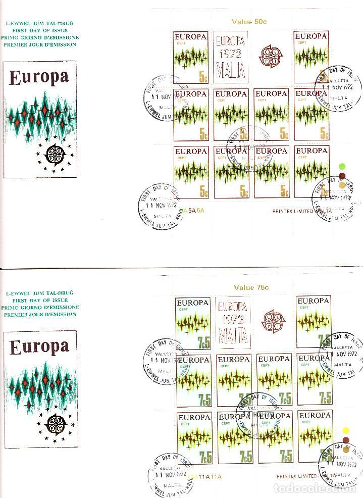 Sellos: 4 SPD - FDC MALTA CEPT 1972 - SOLICITE SUS FALTAS DE SELLOS Y SPD TEMATICA EUROPA- VER FOTOS ADIC. - Foto 3 - 161410702