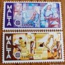 Sellos: MALTA: N°527/28 MNH, EUROPA CEPT AÑO 1976. Lote 163451594