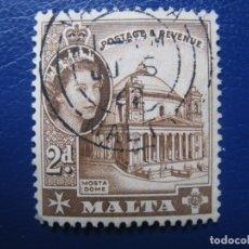 Sellos: MALTA, 1954 YVERT 243. Lote 169918512