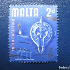 Sellos: MALTA, 1965 YVERT 306. Lote 169919092