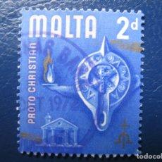 Sellos: MALTA, 1965 YVERT 306. Lote 169919196