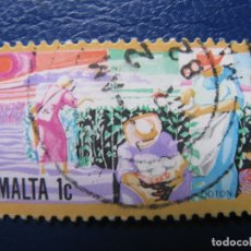 Sellos: MALTA, SELLO USADO. Lote 169959888