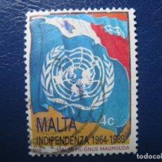 Sellos: MALTA, 1989 INDEPENDENCIA DE MALTA. Lote 169960964