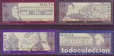 MALTA 816/9 ESCRITORES BRITÁNICOS (Sellos - Extranjero - Europa - Malta)