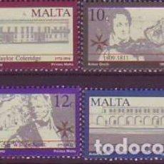 Sellos: MALTA 816/9 ESCRITORES BRITÁNICOS. Lote 171510432