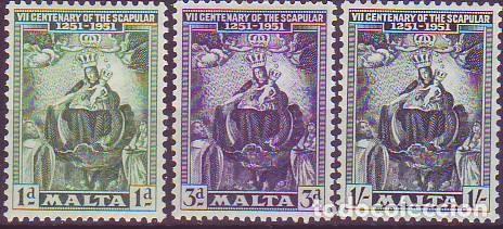 MALTA 225/7 ESCAPULARIO (Sellos - Extranjero - Europa - Malta)