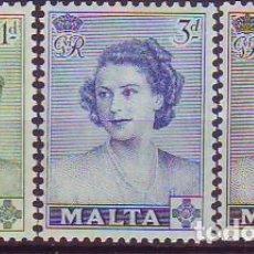 Sellos: MALTA 222/4 VISITA PRINCESA ISABEL. Lote 171511187