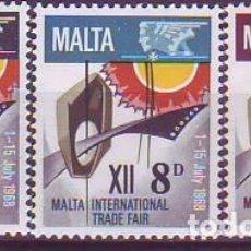 Sellos: MALTA 375/7 FERIA. Lote 171652440