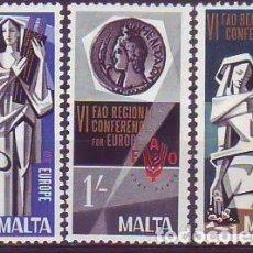 Sellos: MALTA 385/7 FAO. Lote 171652895