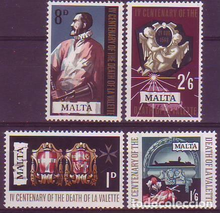 MALTA 378/81 JEAN PARISOT (Sellos - Extranjero - Europa - Malta)