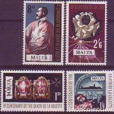 Sellos: MALTA 378/81 JEAN PARISOT. Lote 171653058