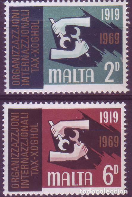 MALTA 389/90 OIT (Sellos - Extranjero - Europa - Malta)