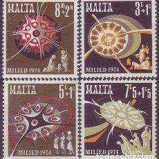 Sellos: MALTA 496/9 NAVIDAD. Lote 175271022