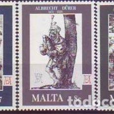 Sellos: MALTA 561/3 DURERO. Lote 176333804