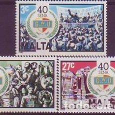 Sellos: MALTA 678/80 UGT. Lote 176333988