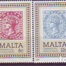 Sellos: MALTA 700/3 CENTENARIO SELLO. Lote 176498457