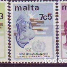Sellos: MALTA 477/9 ANIVERSARIOS. Lote 177721035